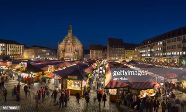 Nuremburg's world famous Christmas Market in Hauptmarkt.