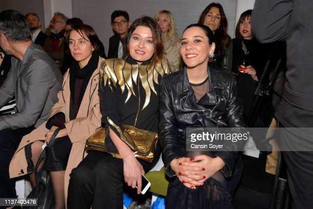 Nurgul Yesilcay attends the Ezra Tuba show during MercedesBenz Fashion Week Istanbul March 2019 at Zorlu Center on March 21 2019 in Istanbul Turkey