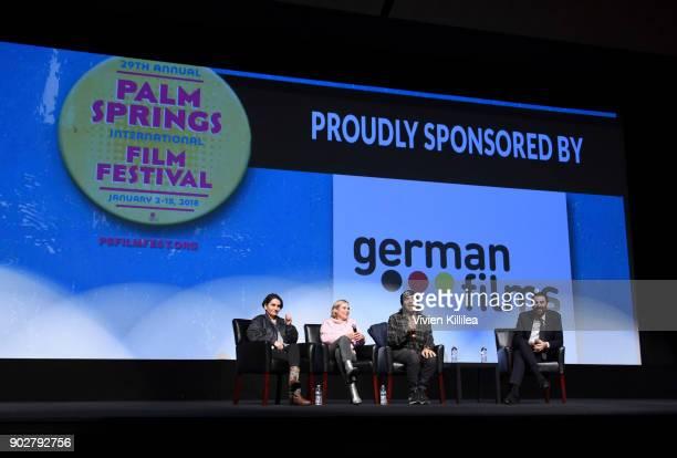 Nurhan SekerciPorst Diane Kruger Fatih Akin and artistic director of the Palm Springs International Film Festival Michael Lerman speak on a panel...