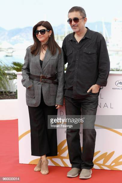 Nuri Bilge Ceylan and Ebru Ceylan attends the photocall for the Ahlat Agaci during the 71st annual Cannes Film Festival at Palais des Festivals on...