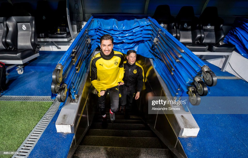 Nuri Sahin of Borussia Dortmund during the last training session prior to the UEFA Champions League match between Real Madrid and Borussia Dortmund on December 05, 2017 in Madrid, Spain.