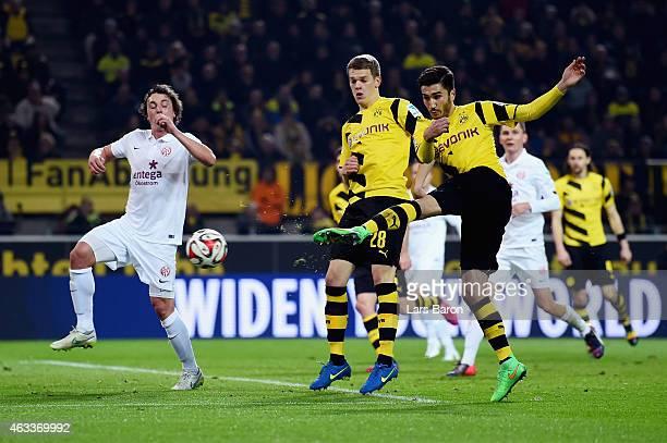 Nuri Sahin of Borussia Dortmund scores the fourth goal during the Bundesliga match between Borussia Dortmund and 1 FSV Mainz 05 at Signal Iduna Park...
