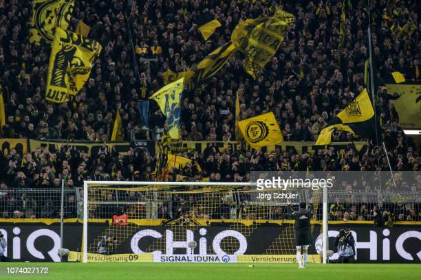 Nuri Sahin of Bremen infront of the southstand after the Bundesliga match between Borussia Dortmund and SV Werder Bremen at the Signal Iduna Park on...