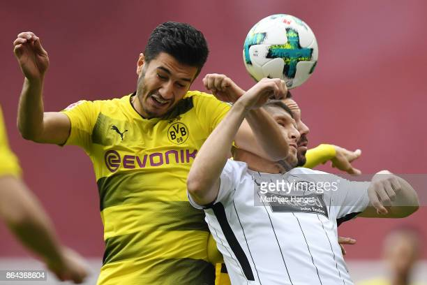 Nuri Sahin of Dortmund and Ante Rebic of Frankfurt fight for the ball during the Bundesliga match between Eintracht Frankfurt and Borussia Dortmund...