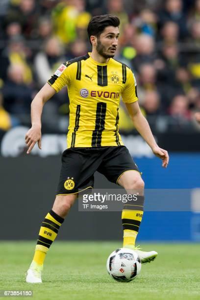 Nuri Sahin of Dortmund controls the ball during the Bundesliga match between Borussia Dortmund and Eintracht Frankfurt at Signal Iduna Park on April...