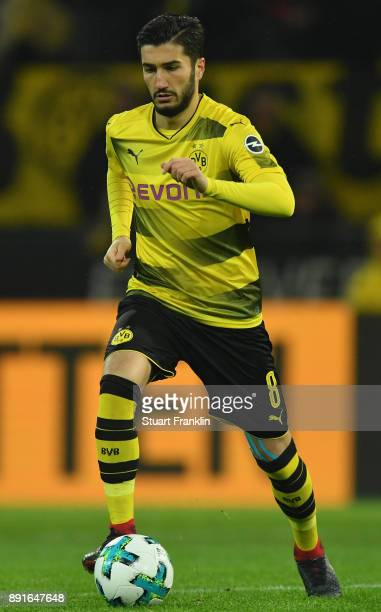 Nuri Sahin of Dortmund in action during the Bundesliga match between Borussia Dortmund and SV Werder Bremen at Signal Iduna Park on December 9 2017...