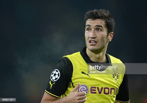 Nuri Sahin of Dortmund in action during the UEFA Champions League group F match between Borussia Dortmund and SSC Napoli at Signal Iduna Park on...