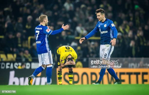 Nuri Sahin of Dortmund reacts after the Bundesliga match between Borussia Dortmund and FC Schalke 04 at Signal Iduna Park on November 25 2017 in...