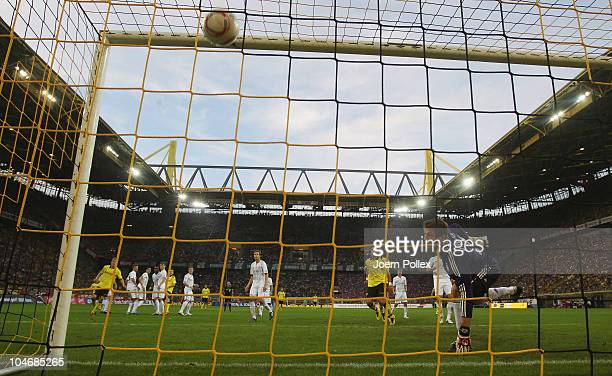 Nuri Sahin of Dortmund scores his team's second goal during the Bundesliga match between Borussia Dortmund and FC Bayern Muenchen at Signal Iduna...