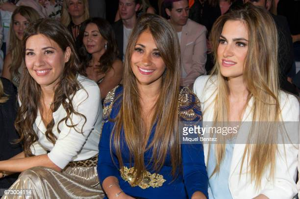Nuria Cunillera Antonella Rocuzzo and Elena Galera are seen on the front row of the Rosa Clara Show during Barcelona Bridal Fashion Week 2017 on...
