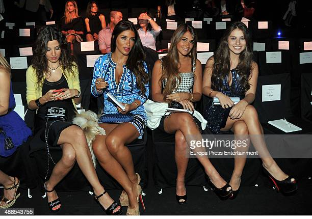 Nuria Cunillera Daniella Semaan Antonella Roccuzzo and Gabriella Lenzi attend the Rosa Clara fashion show during 'Barcelona Bridal Week 2014' on May...