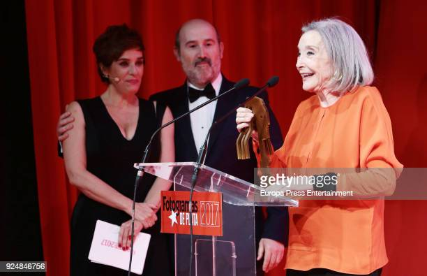 Nuria Espert Javier Camara and Anabel Alonso attend 'Fotogramas Awards' gala at Joy Eslava on February 26 2018 in Madrid Spain