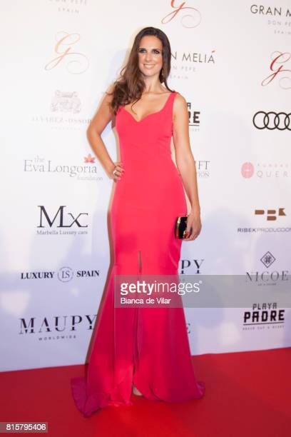 Nuria Fergó attends the Global Gift Gala 2017 red carpet at Gran Melia Don Pepe Resort on July 16 2017 in Marbella Spain