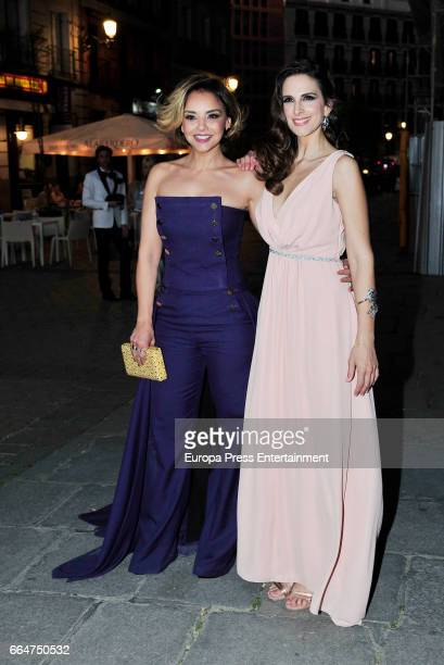 Nuria Fergo and Chenoa attend the Global Gift Gala 2017 at Royal Theatre on April 4 2017 in Madrid Spain