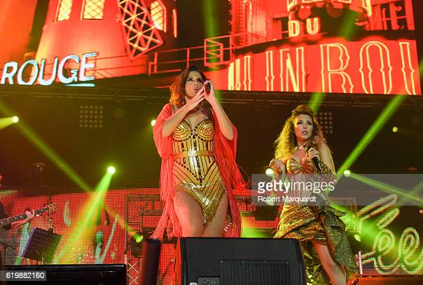 Nuria Fergo and Gisela Llado performs on stage on October 31 2016 in Barcelona Spain