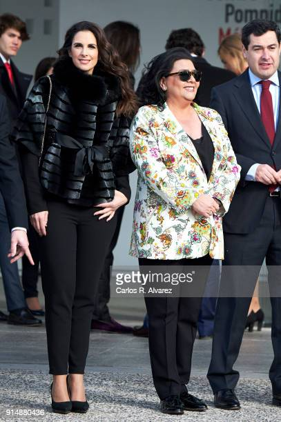 Nuria Fergo and Maria del Monte attend the Gold Medals of Merit in Fine Arts 2016 ceremony at the Pompidou Center on February 6 2018 in Malaga Spain