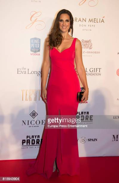 Nuria Fergo attends the Global Gift Gala 2017 red carpet at Gran Melia Don Pepe Resort on July 16 2017 in Marbella Spain