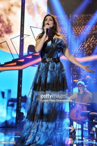 Nuria Fergo attends the 'Operacion Triunfo' Tv show on December 25 2017 in Barcelona Spain