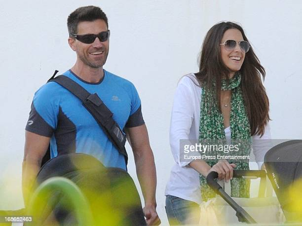 Nuria Fergo her boyfriend and personnal trainer Miguel are seen on April 18 2013 in Nerja Spain