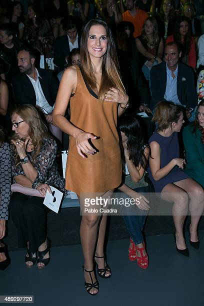 Nuria Fergo is seen attending MercedesBenz Fashion Week Madrid Spring/Summer 2016 at Ifema on September 20 2015 in Madrid Spain