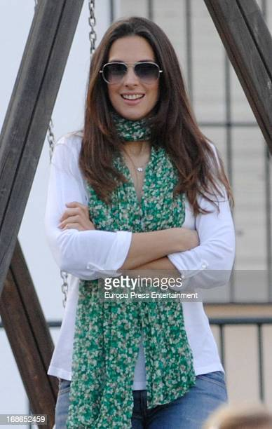 Nuria Fergo is seen on April 18 2013 in Nerja Spain