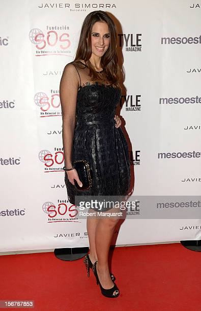 Nuria Fergo poses during a photocall for the 'Dia Universal de la Infancia Gala' by the SOS Foundation held at the Casa Batllo on November 20 2012 in...