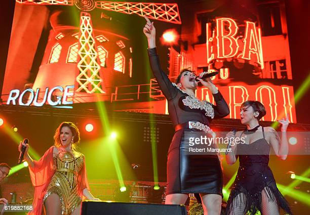 Nuria Fergo Rosa Lopez and Chenoa perform on stage on October 31 2016 in Barcelona Spain