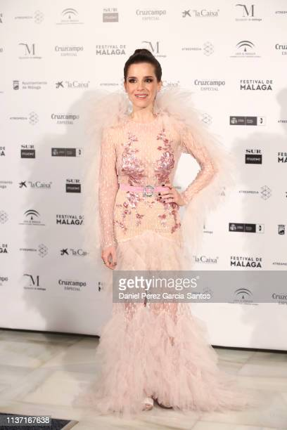 Nuria Gago attends 'Los dias que vendran' premiere at the Cervantes Theater during the 22nd Malaga Film Festival on March 20, 2019 in Malaga, Spain.