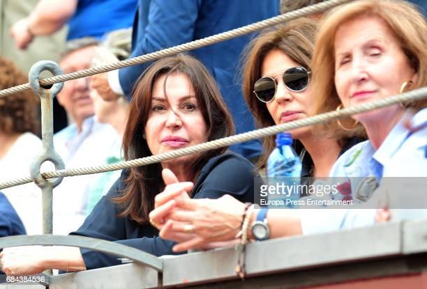 Nuria Gonzalez and Carmen Martinez Bordiu attend 'San Isidro' Bullfight Fair at Las Ventas bullring at Las Ventas Bullring on May 17 2017 in Madrid...