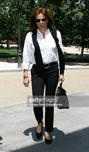 Nuria Gonzalez attends the funeral chapel for the Spanish businessman Jose Luis GarciaCereceda at San Isidro morgue on June 7 2010 in Madrid Spain