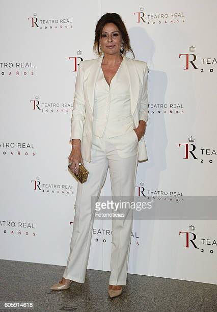 Nuria Gonzalez attends the Royal Theatre opening season concert on September 15 2016 in Madrid Spain