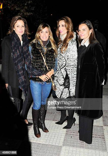 Nuria Gonzalez Cristina Sanchez Paloma Cuevas and Mamen Sanz attend the protest 'Madrid Mira a Bogota' in support of bullfighting that was banned by...
