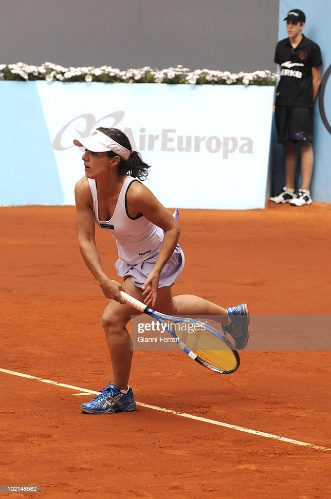 Nuria Llangostera, ESP, in tennis 'Mutua Madrilena Madrid Open' , 8th May 2010, in 'La Caja Magica'. Madrid, Spain.