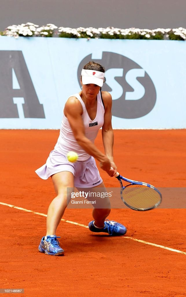 Nuria Llangostera, ESP, in tennis 'Mutua Madrilena Madrid Open' , 8th May 2010, in 'La Caja Magica'. Madrid, Spain.