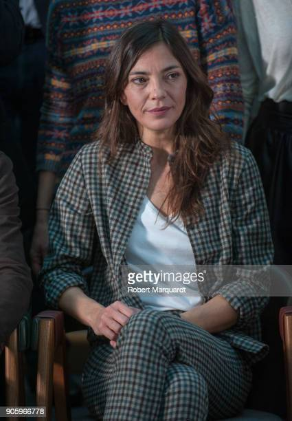 Nuria Prims poses for the press during a candidate presentation for the 10th Gaudi Awards 2018 at the Hotel Mandarin Oriental on January 17 2018 in...