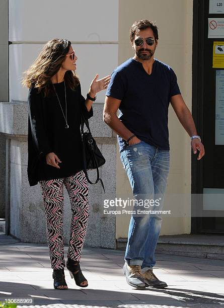 Nuria Roca and her husband Juan Del Val are seen going for shopping on October 27 2011 in Madrid Spain