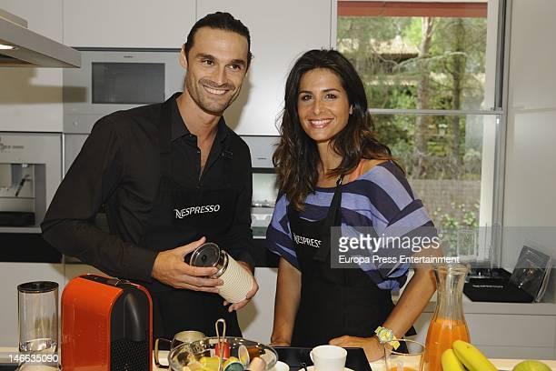 Nuria Roca and Ivan Sanchez present 'U' the new Nespresso machine on June 20 2012 in Madrid Spain