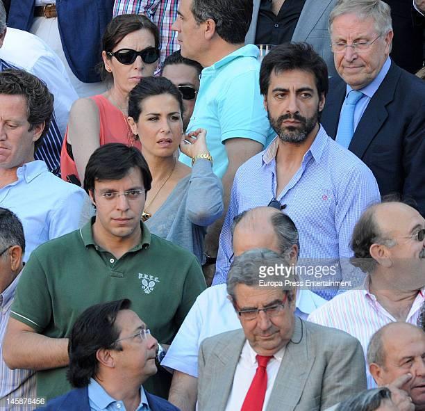 Nuria Roca and Juan del Val attend Beneficiencia bullfight at Plaza de Toros de Las Ventas on June 6 2012 in Madrid Spain