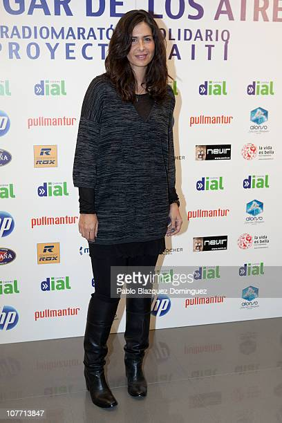 Nuria Roca attends Cadena Dial Radio Station Fundraising Event on December 21 2010 in Madrid Spain