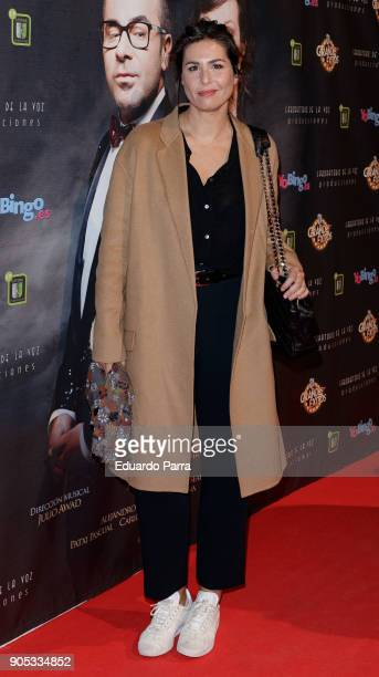 Nuria Roca attends the 'Grandes Exitos' theatre play premiere at Rialto Theatre on January 15 2018 in Madrid Spain