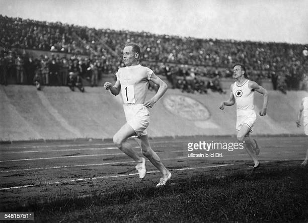 Nurmi Paavo Sportsman FIN *13061897 Athlete runner Potrait in a stadion during a competition 1926 Photographer Walter Gircke Vintage property of...