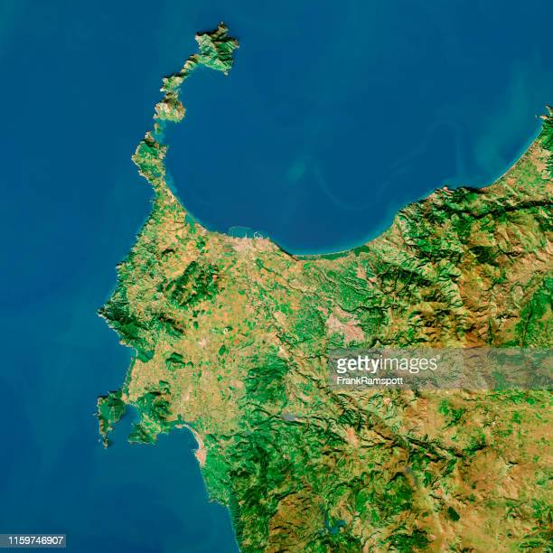 nurra sardinia italy topographic map top view feb 2019 - frank ramspott stock pictures, royalty-free photos & images