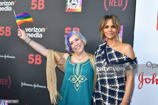 Nurse Alison Moed and Halle Berry attend 5B documentary U.S. Premiere at LA Pride on June 07, 2019 in West Hollywood, California.