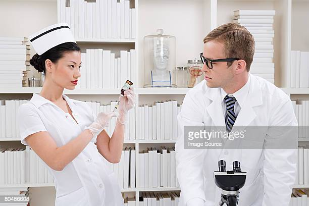A nurse and doctor