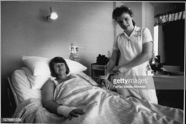 Nurse Anna Longworth and patient Jane Smith seen here at St Vincents Private Hospital'You either love this job or you don't if you love it you have a...