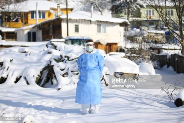 Nurse at Kirklareli Provincial Health Directorate Dilber Akturk speaks during an exclusive interview on their working process in Kirklareli, Turkey...