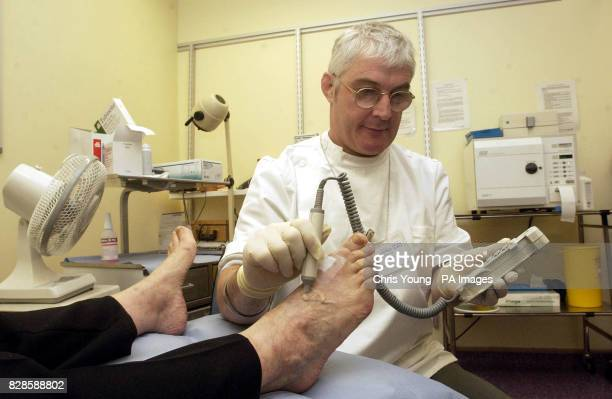 A nurse at the diabetes clinic at St Thomas' Hospital in Central London carries out an examination on a patients feet The Governmnet has launched the...