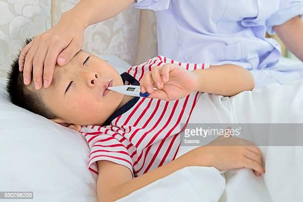 nurse checking fever