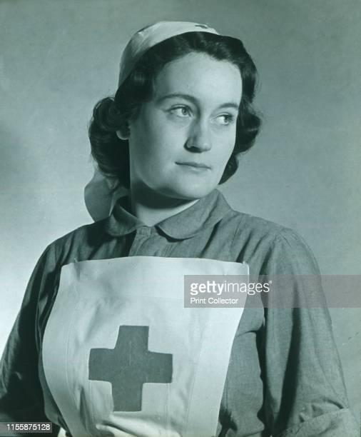 Nurse', circa 1940s. Glass lantern slide. Artist Unknown.