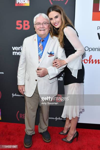 Nurse Cliff Morrison and Elizabeth Chambers Hammer attend the 5B documentary US premiere at LA Pride on June 07 2019 in West Hollywood California